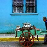 Blue wall _ cart