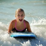 Boogie boarding great for kids too